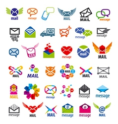 Collection of logos mail messages vector
