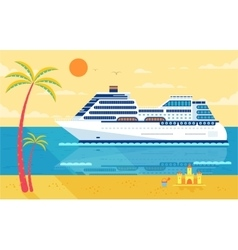 cruise ship isolated side view vector image