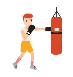 cute boy or young boxer dressed in sportswear vector image