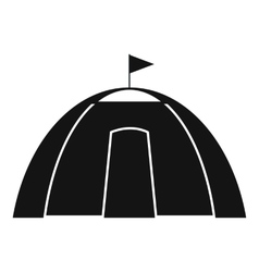Dome tent black simple icon vector