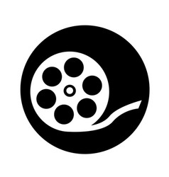 film reel icon design vector image