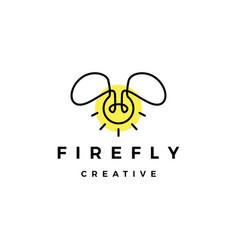Firefly bulb lamp creative logo icon vector