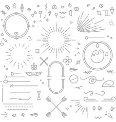 Flat design elements gray vector