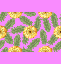 floral seamless pattern retro-style vector image