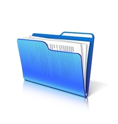 Folder with papers vector image