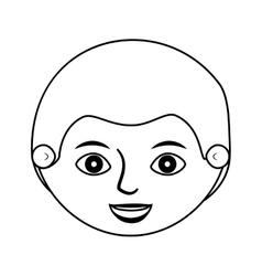 Front face man silhouette with haircut vector