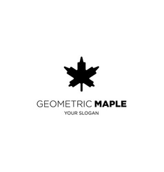 geometric maple vector image