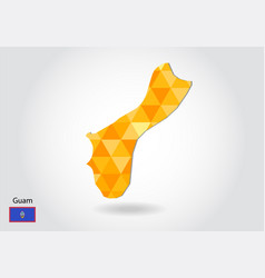 geometric polygonal style map of guam low poly vector image
