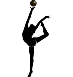Girl gymnast athlete vector