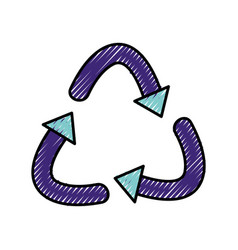 Grated recycle symbol to ecology planet care vector