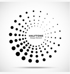 halftone circle dotted frame vector image