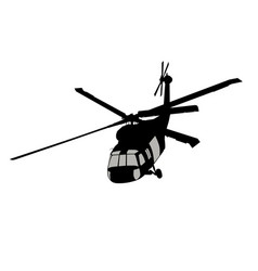 helicopter silhouette vector image
