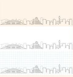 Hiroshima hand drawn skyline vector
