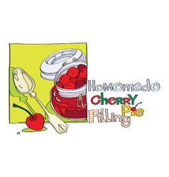 homemade cherry pie filling vector image