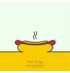 Hot dog icon vector