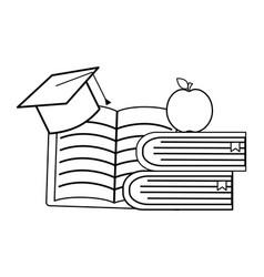 Isolated school supplies design vector