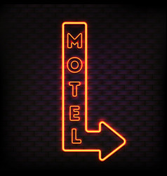 Luminous motel marker composition vector