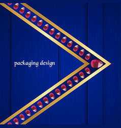 luxury packaging template in modern style for vector image
