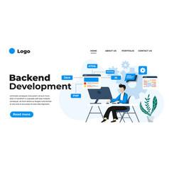 modern flat design backend development can vector image