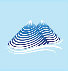 Mountain nature swirly vector