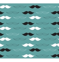 Moustache Seamless Pattern vector image