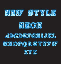 new style neon glowing isometric font vector image