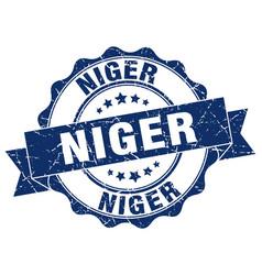 Niger round ribbon seal vector