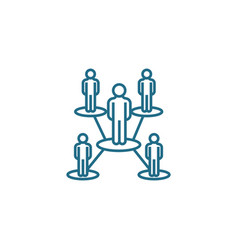 Organizational structure linear icon concept vector