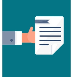 Payment and document symbol vector image