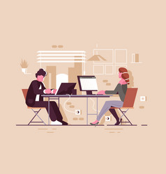 people in modern office vector image