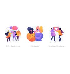 People relationship concept metaphors vector