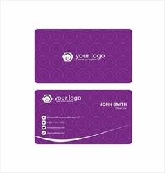 Purple business card vector