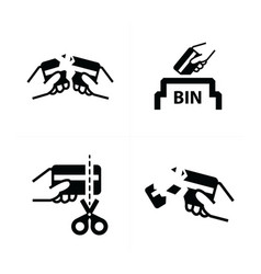 removing credit card symbol vector image