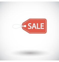 Sale label icon vector