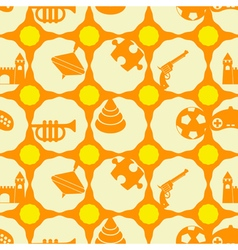 Seamless background with toys vector image