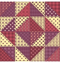 Seamless patchwork claret color pattern 1 vector image