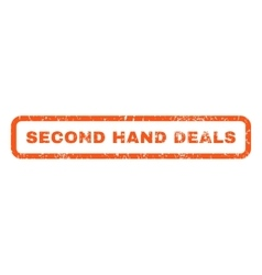 Second Hand Deals Rubber Stamp vector image