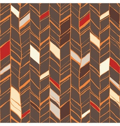 Sketchy herringbone seamless pattern vector