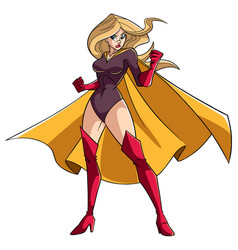 Superheroine battle mode vector