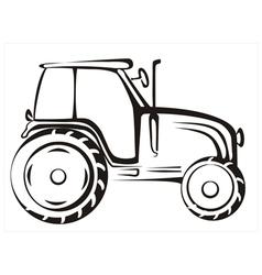 Tractor symbol vector