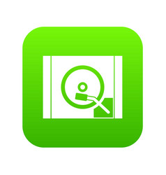 Turntable icon digital green vector