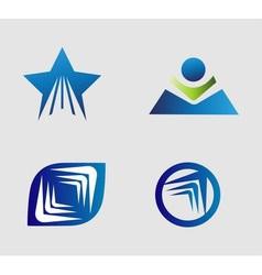 Unusual Flat Logo set for travel transport media vector