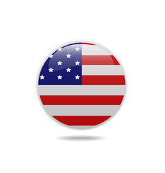 usa flag circle bubbles of american vector image