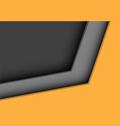 yellow grey arrow direction corner design vector image
