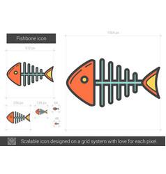 Fishbone line icon vector