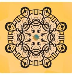 Stylized round lace design Indian mandala arabic vector image
