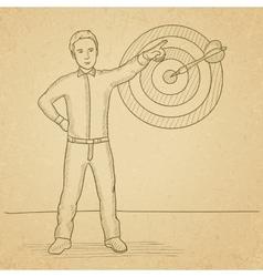 Achievement of business goal vector image