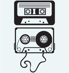 Audio cassette tape vector image vector image