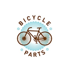Bicycle logo vector image vector image