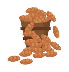 bucket bread multiplication miracle image vector image vector image